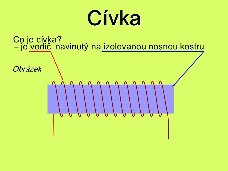 Cívka – jevodičnavinutýna izolovanou nosnou kostru Obrázek Co je cívka?