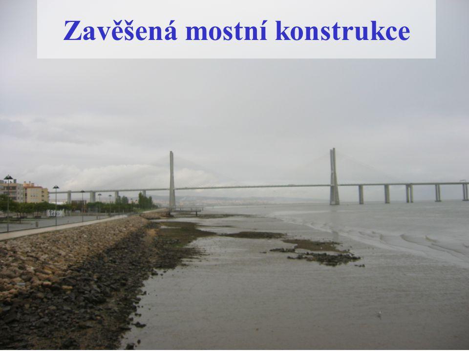 Zavěšená mostní konstrukce