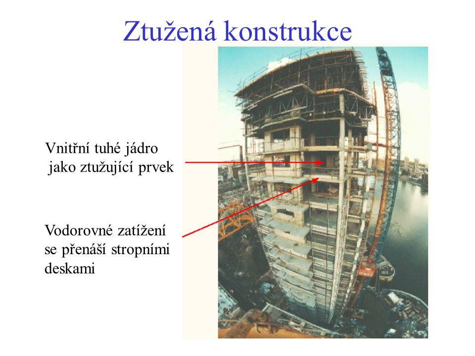 Žebrová stropní deska Přednosti: - lehčí než deska v jednom směru - větší rozpětí - prostor pro instalace Nevýhody: - vyšší celkové náklady