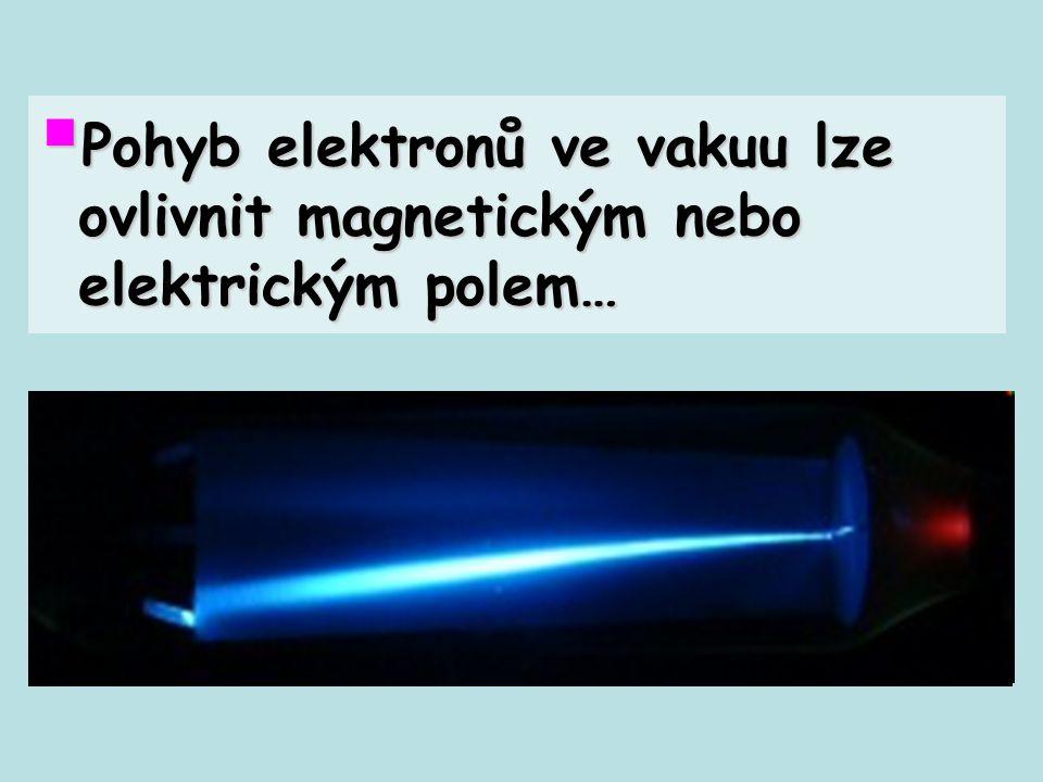  Pohyb elektronů ve vakuu lze ovlivnit magnetickým nebo elektrickým polem…