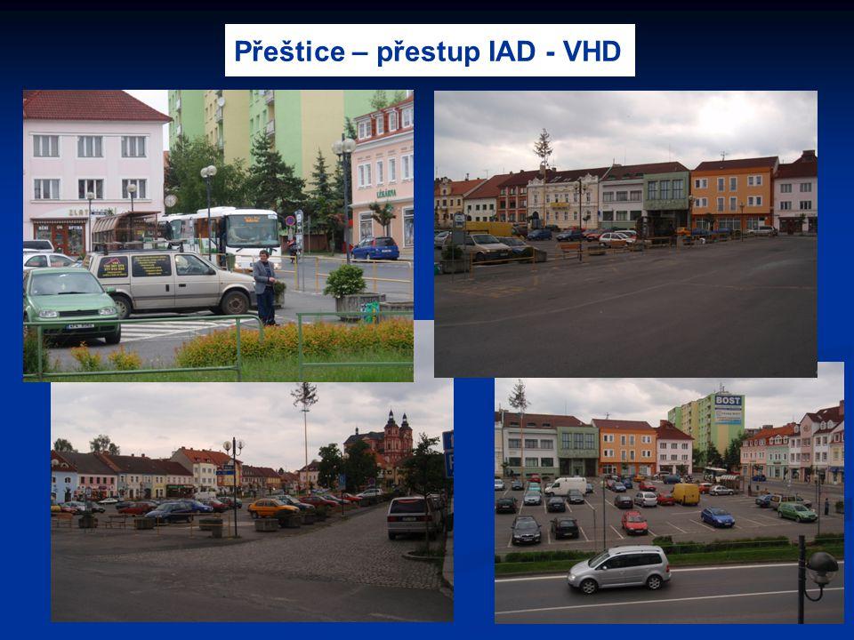 Přeštice – přestup IAD - VHD