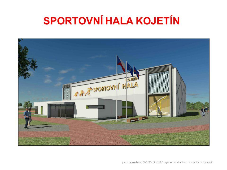 SPORTOVNÍ HALA KOJETÍN pro zasedání ZM 25.3.2014 zpracovala Ing.Ilona Kapounová