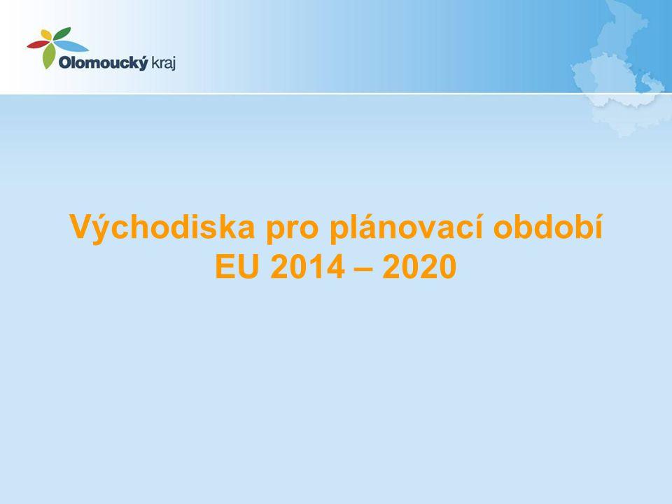 Návrh finančního rámce pro období 2014 až 2020 nebyl dosud schválen Finanční rámec předpokládá snížení podílu ČR na kohezní politice na 20,6 mld.