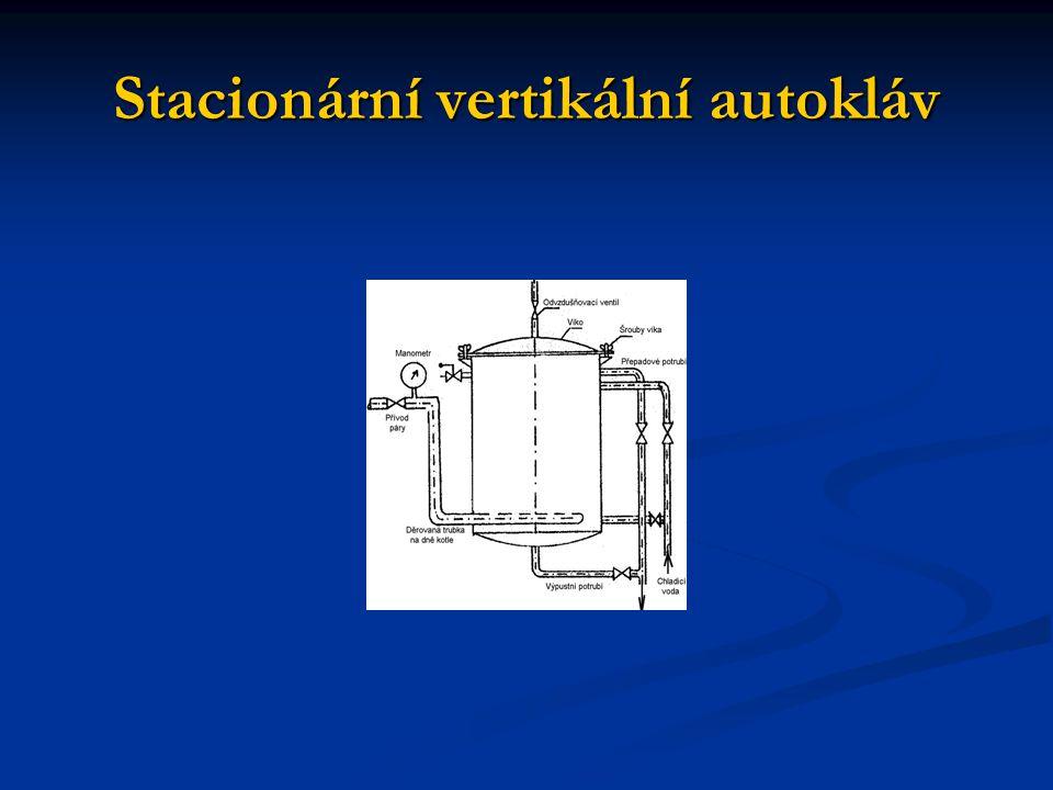 Stacionární vertikální autokláv