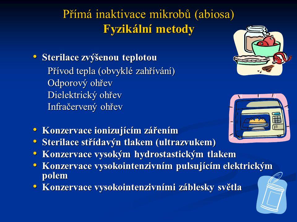 Přímá inaktivace mikrobů (abiosa) Chemické metody Desinfekční činidla Desinfekční činidla Kyslík Kyslík Stříbro Stříbro Chemikálie Chemikálie