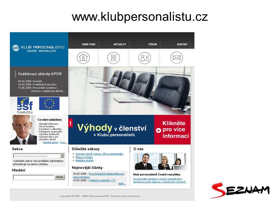 15 www.klubpersonalistu.cz