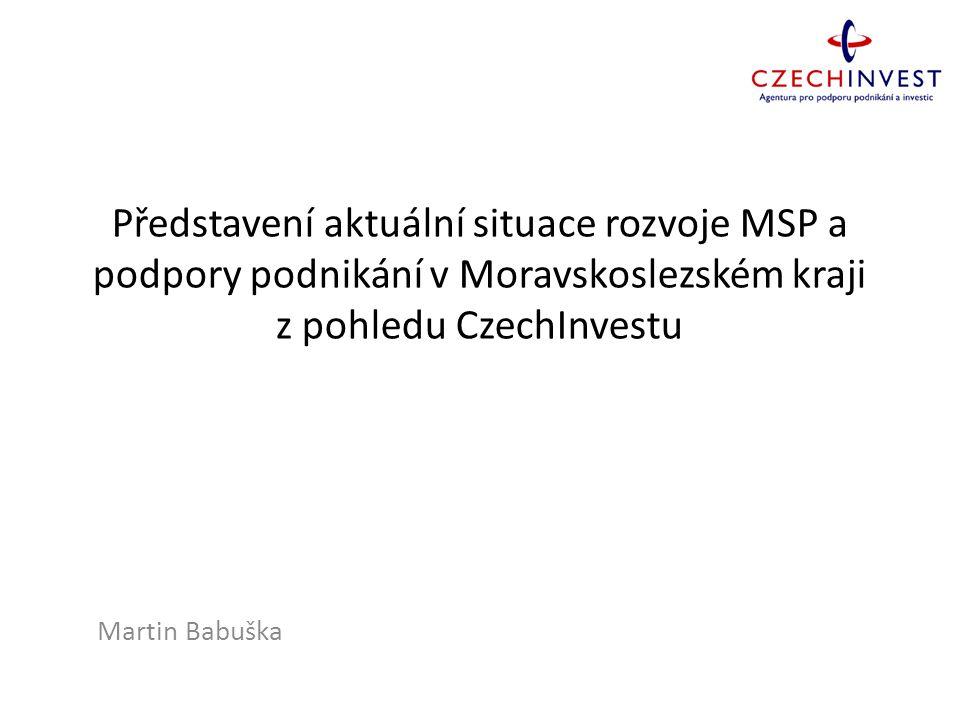 Představení aktuální situace rozvoje MSP a podpory podnikání v Moravskoslezském kraji z pohledu CzechInvestu Martin Babuška