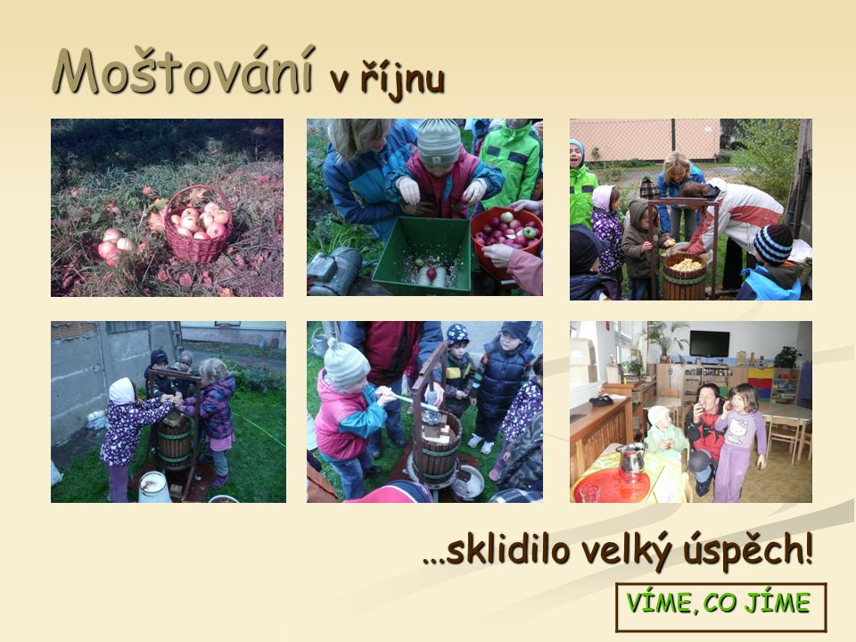Na křížaly koncem podzimu VÍME, CO JÍME …jsme si sami nasbírali jablka a hrušky!