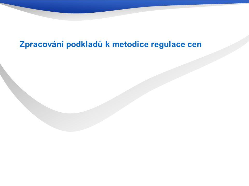 Zpracování podkladů k metodice regulace cen