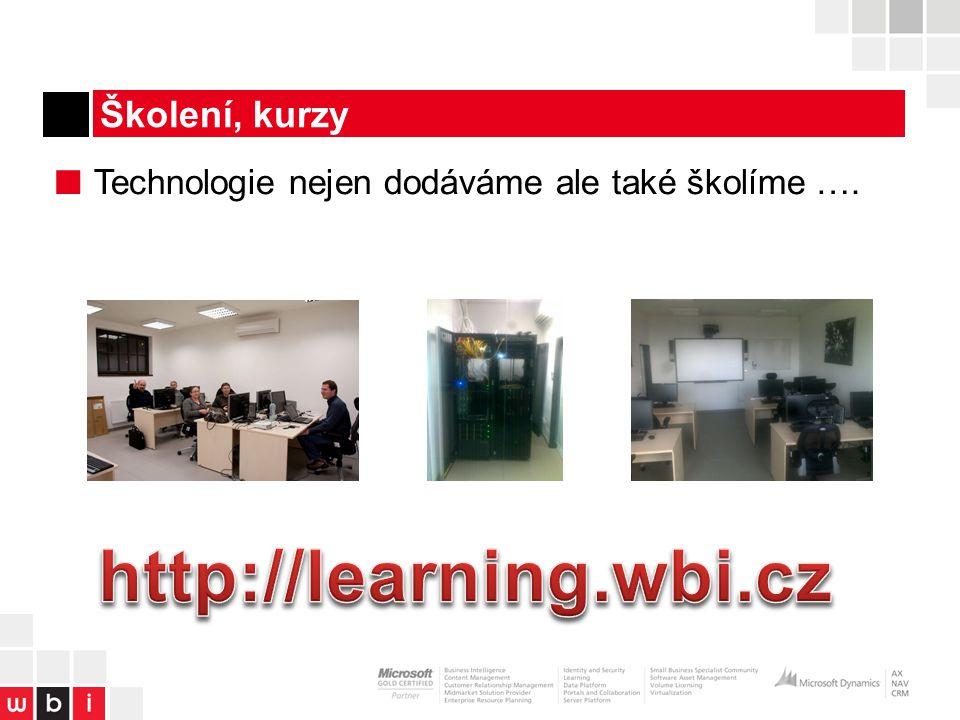 Školení, kurzy ■ Technologie nejen dodáváme ale také školíme ….