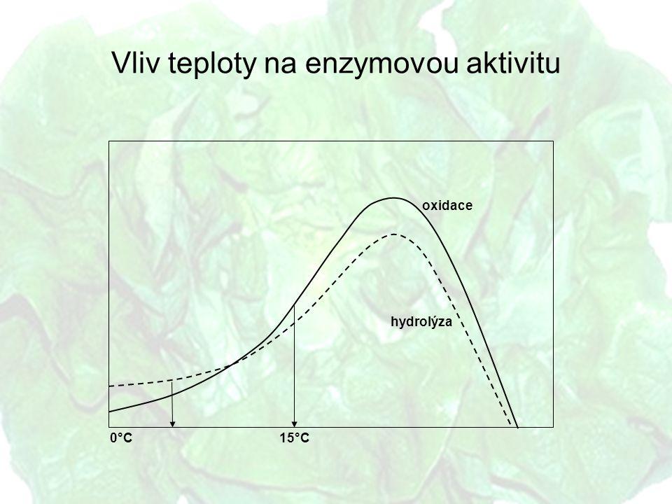 Vliv teploty na enzymovou aktivitu hydrolýza oxidace 0°C15°C