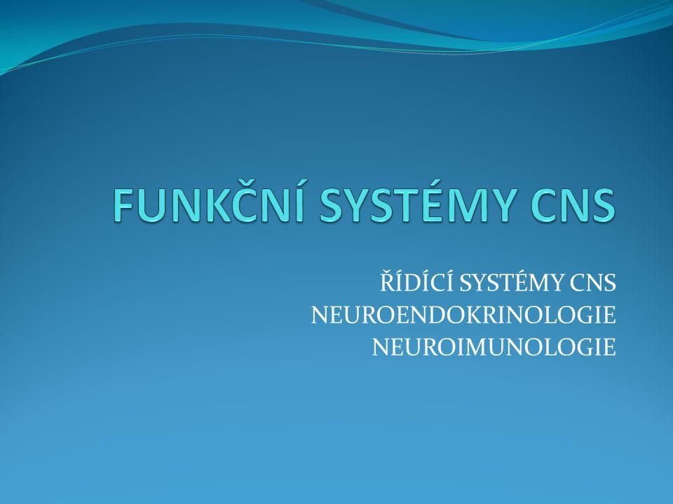 ŘÍDÍCÍ SYSTÉMY CNS NEUROENDOKRINOLOGIE NEUROIMUNOLOGIE