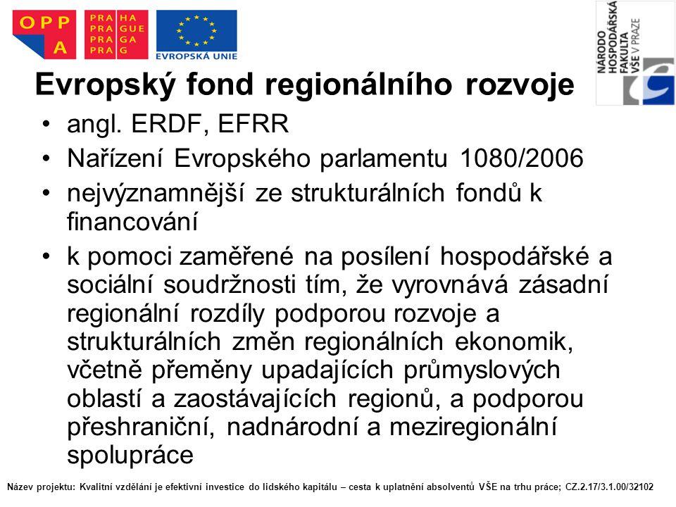 Evropský fond regionálního rozvoje angl.