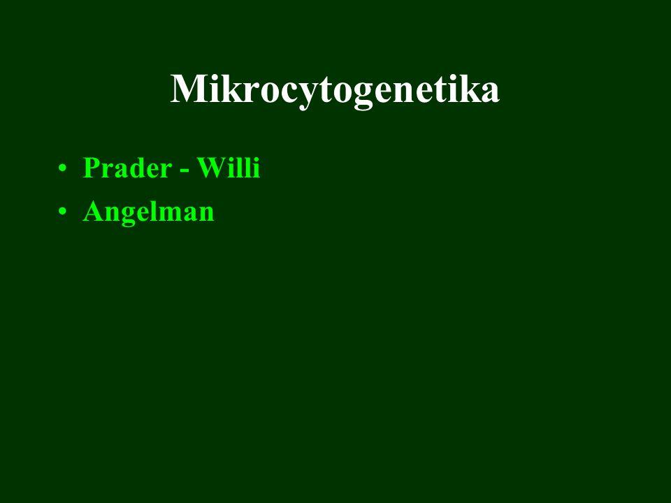 Mikrocytogenetika Prader - Willi Angelman