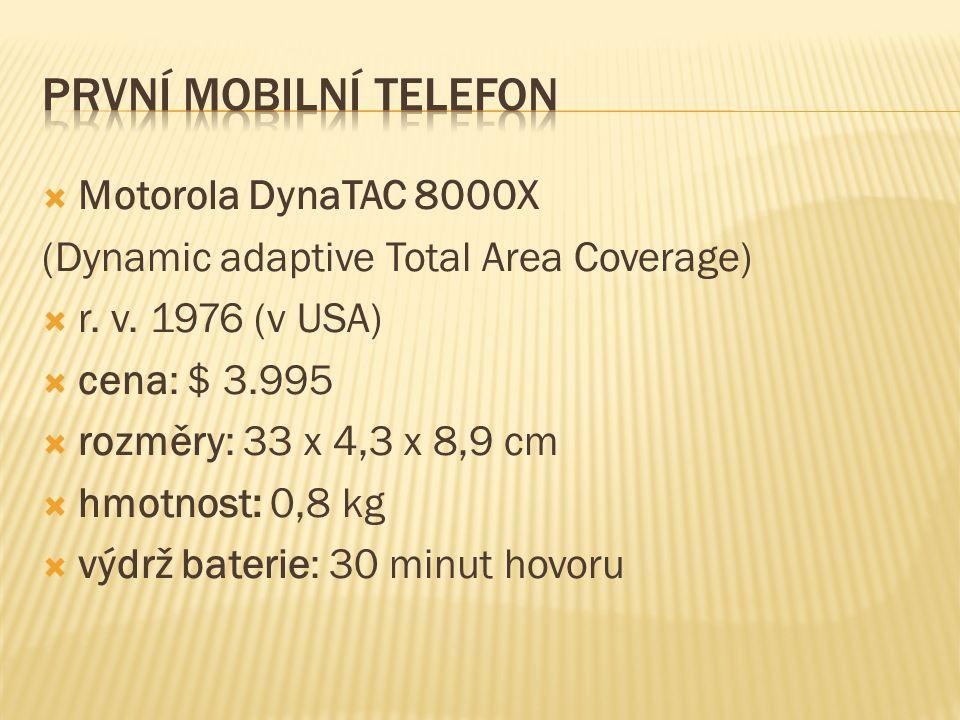  Motorola DynaTAC 8000X (Dynamic adaptive Total Area Coverage)  r.