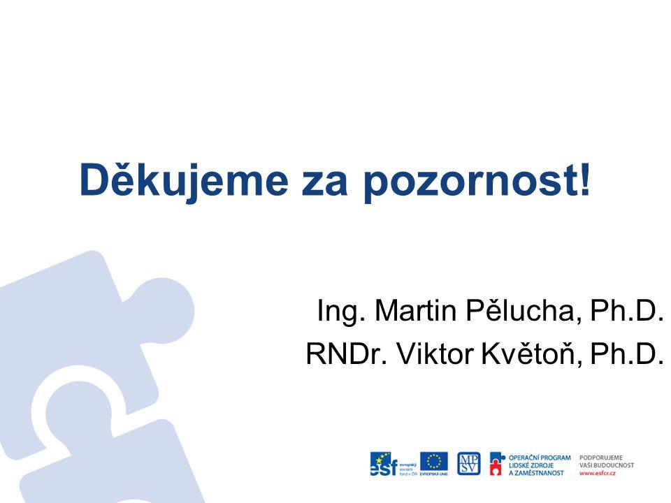 Děkujeme za pozornost! Ing. Martin Pělucha, Ph.D. RNDr. Viktor Květoň, Ph.D.