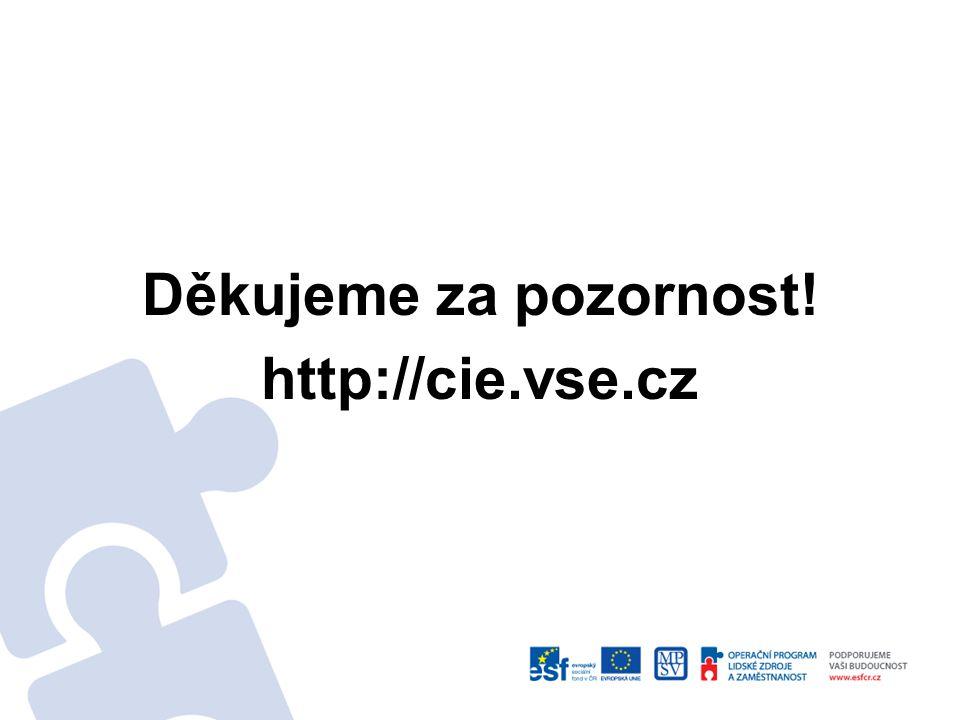 Děkujeme za pozornost! http://cie.vse.cz