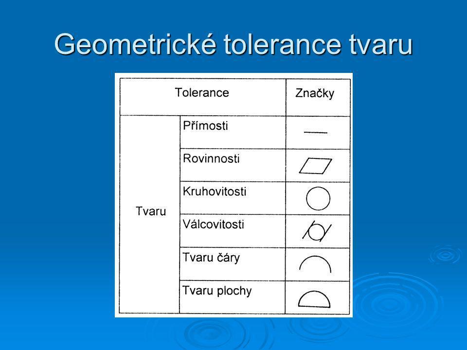 Geometrické tolerance tvaru