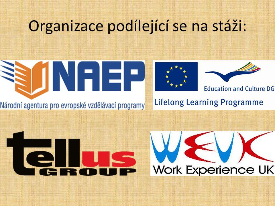 Organizace podílející se na stáži: