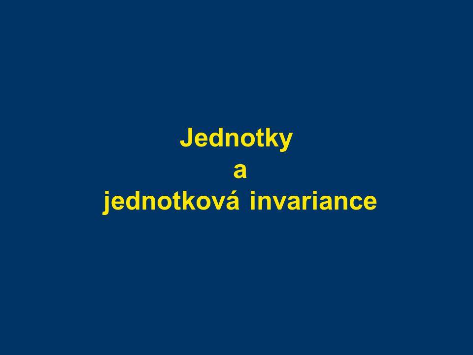 Jednotky a jednotková invariance