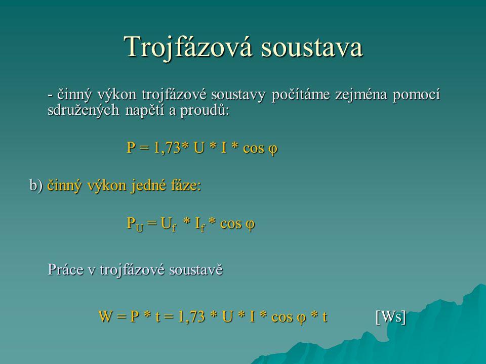 Trojfázová soustava  Soustava využívající 3 cívky je nejoptimálnější.