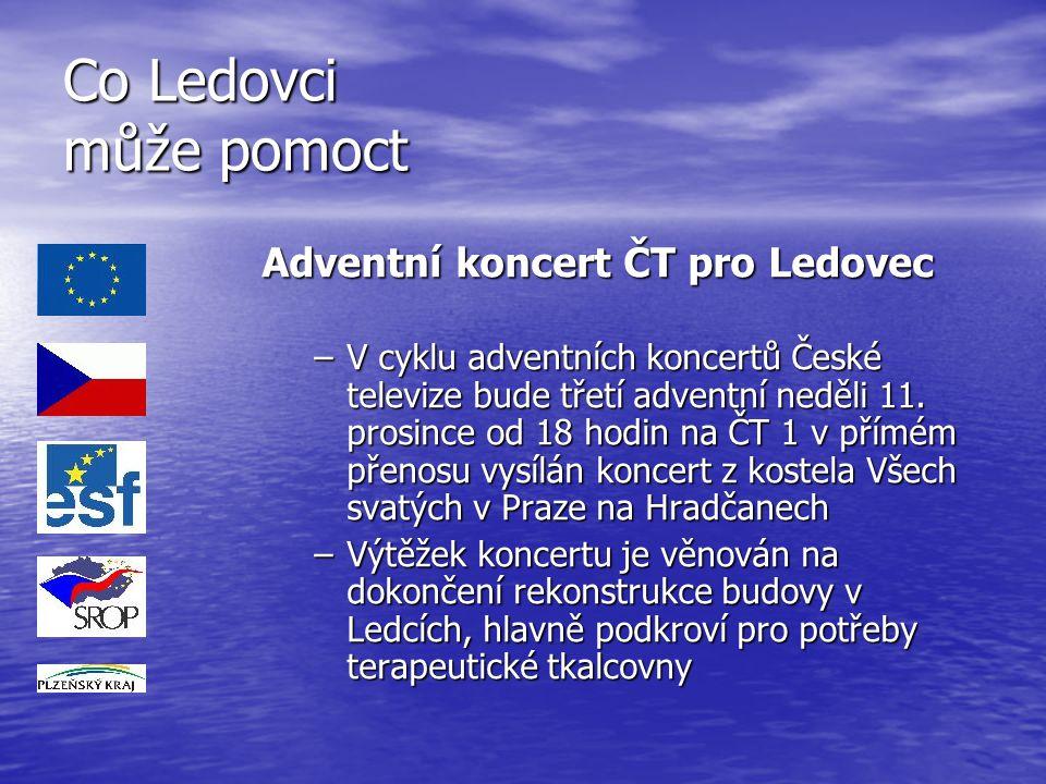 Co Ledovci může pomoct Adventní koncert ČT pro Ledovec –V cyklu adventních koncertů České televize bude třetí adventní neděli 11. prosince od 18 hodin
