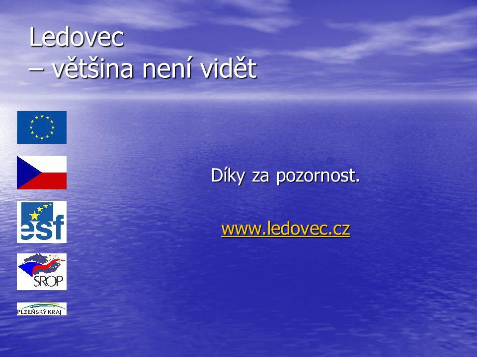 Ledovec – většina není vidět Díky za pozornost. www.ledovec.cz