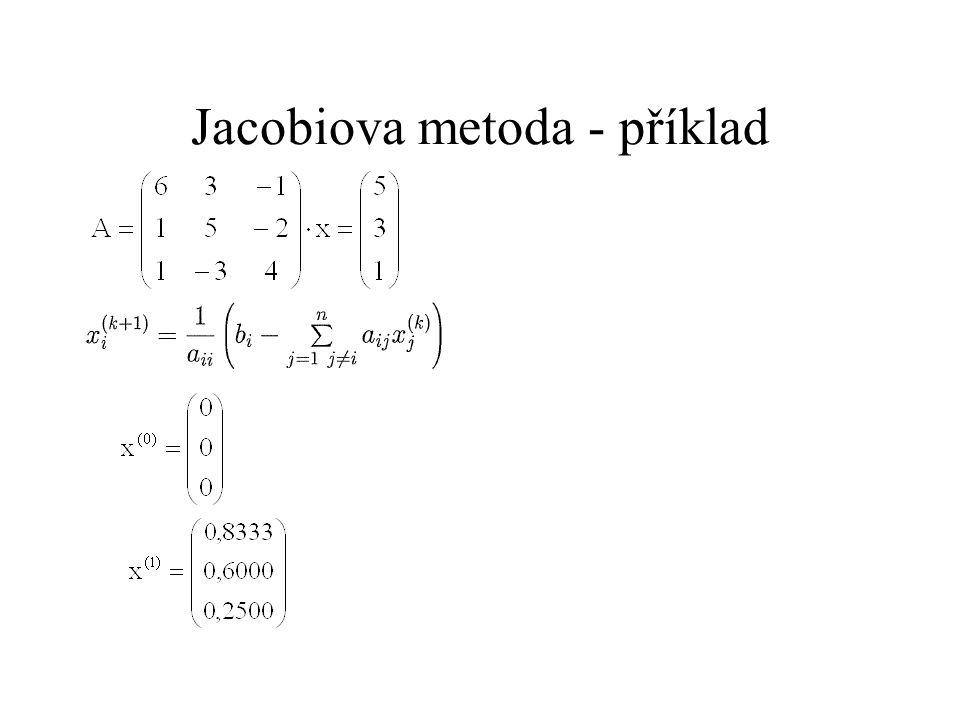 Jacobiova metoda - příklad
