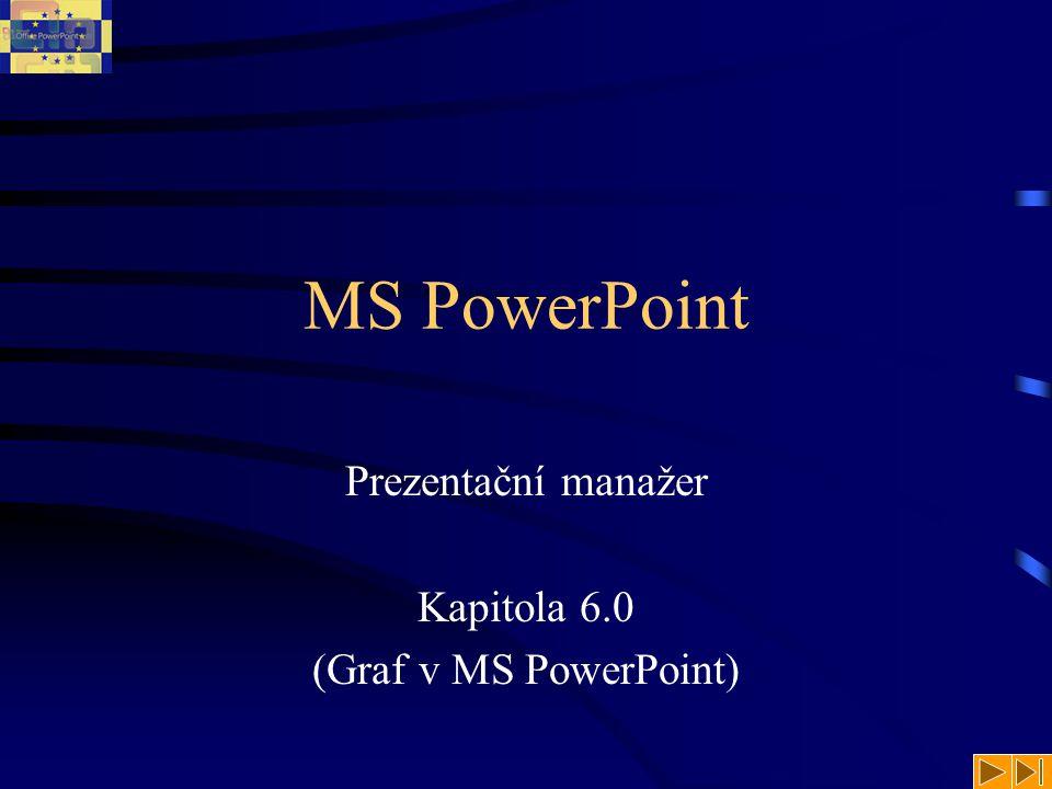 MS PowerPoint Prezentační manažer Kapitola 6.0 (Graf v MS PowerPoint)