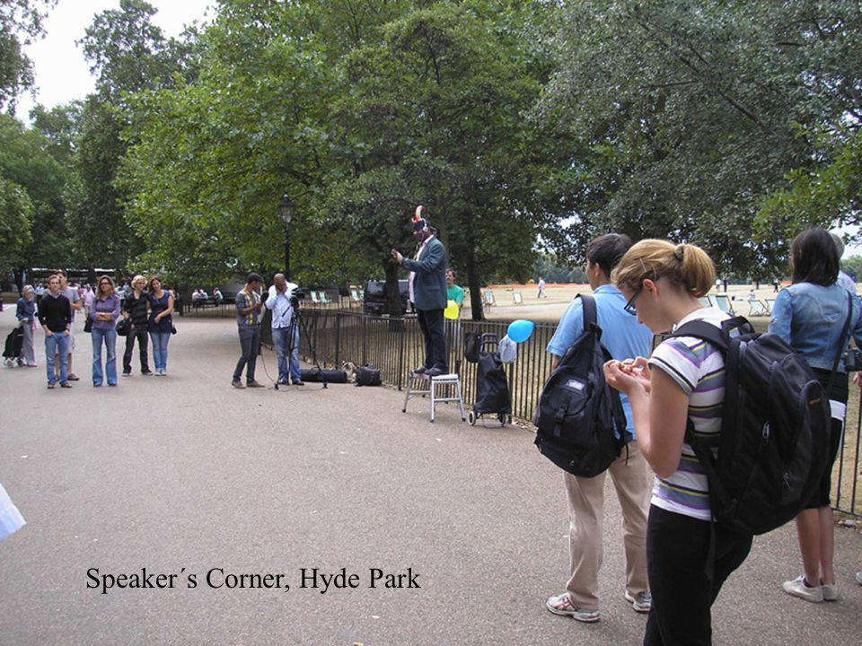 Přejít na první stránku Speaker´s Corner, Hyde Park