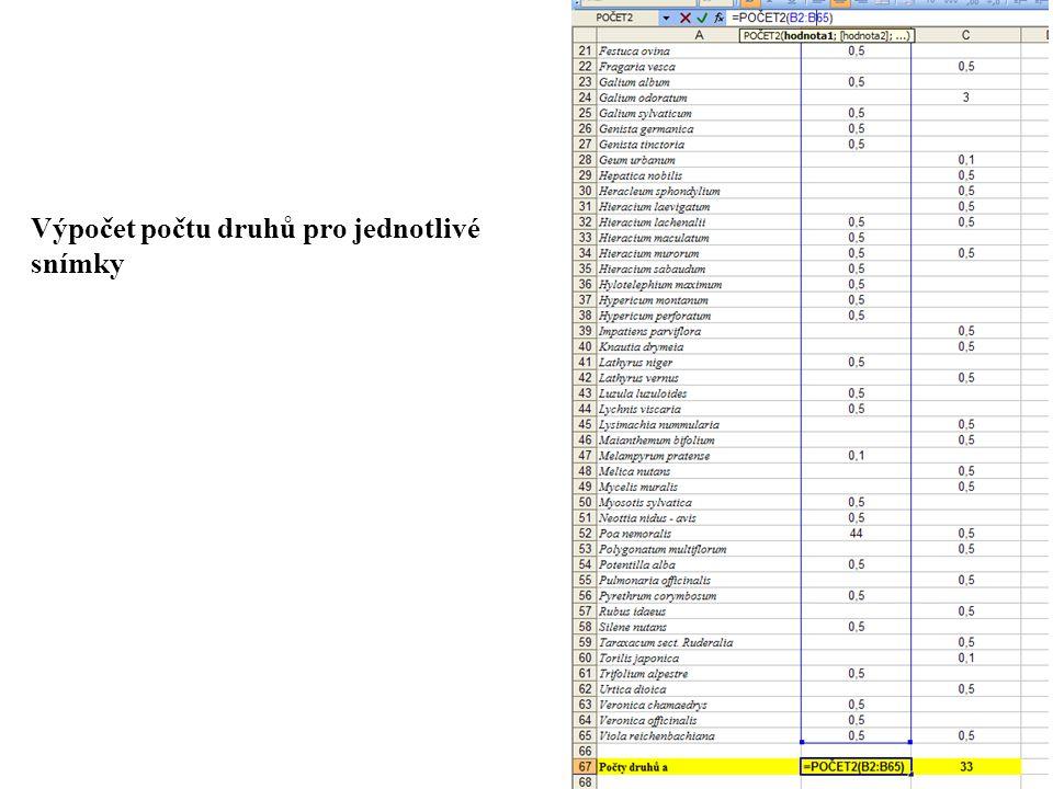 Snímek číslo 1 – výpočet p i *ln(p i )