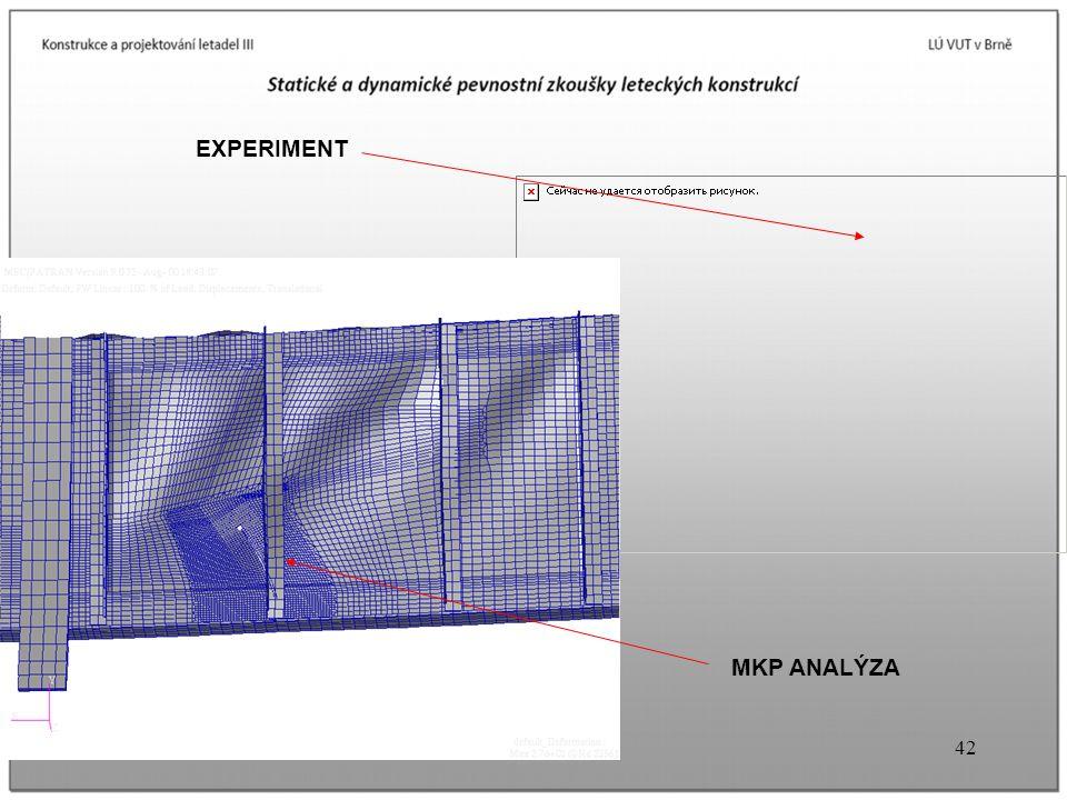 42U3V Prof. A.Píštěk EXPERIMENT MKP ANALÝZA
