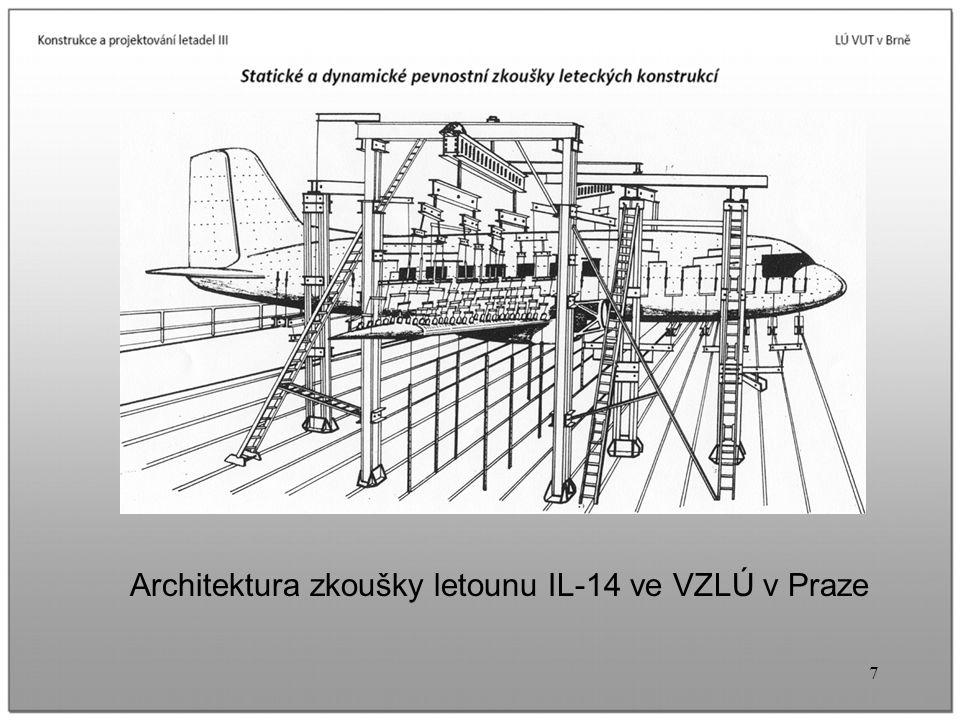 7 Architektura zkoušky letounu IL-14 ve VZLÚ v Praze