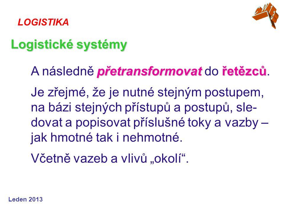 Leden 2013 přetransformovatřetězců A následně přetransformovat do řetězců. Je zřejmé, že je nutné stejným postupem, na bázi stejných přístupů a postup