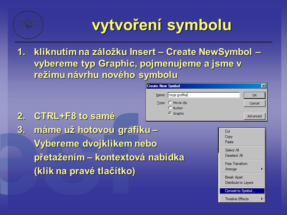 vytvoření symbolu 1.kliknutím na záložku Insert – Create NewSymbol – vybereme typ Graphic, pojmenujeme a jsme v režimu návrhu nového symbolu 2. CTRL+F