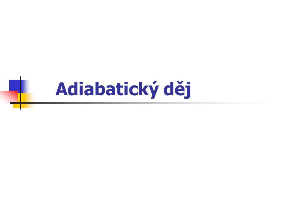 O jaký děj jde? Adiabatický děj je děj, při kterém neprobíhá tepelná výměna mezi plynem a okolím.