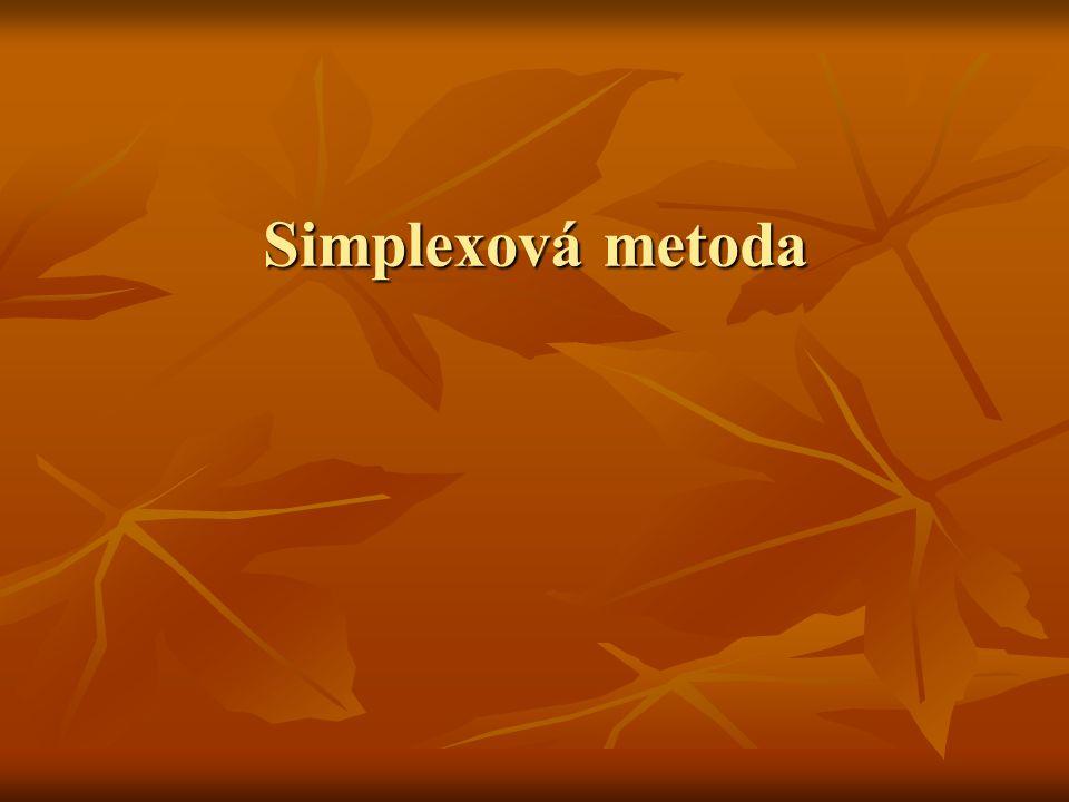 Simplexová metoda