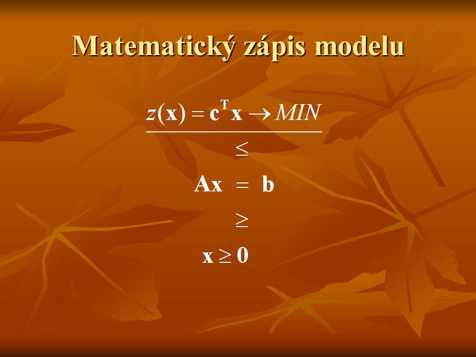 Matematický zápis modelu