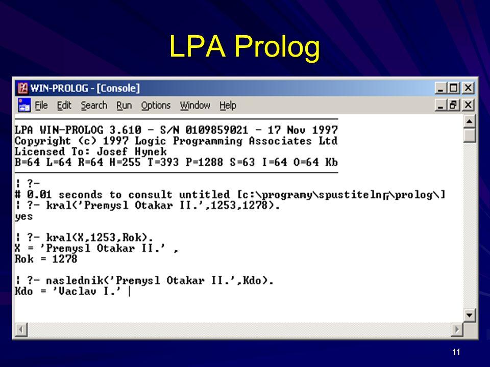 11 LPA Prolog