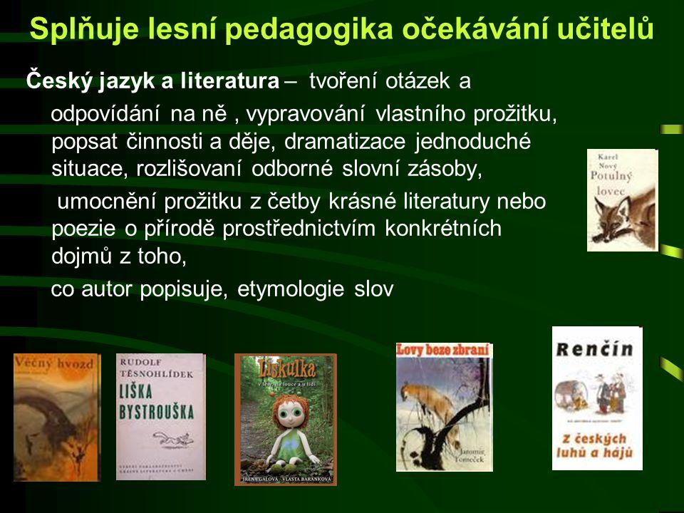 Cizí jazyk - lesní pedagogové existují a realizují své aktivity v několika desítkách evropských států.V případě výjezdu například do Rakouska či Němec