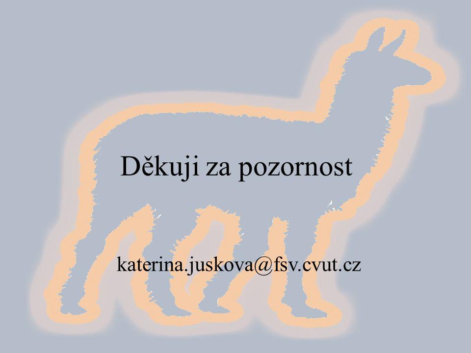 Děkuji za pozornost katerina.juskova@fsv.cvut.cz