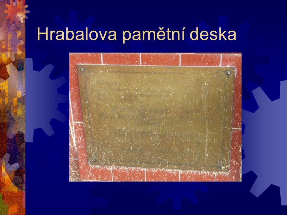 Hrabalova pamětní deska