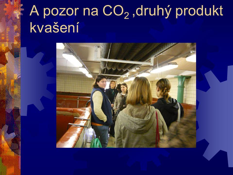 A pozor na CO 2,druhý produkt kvašení