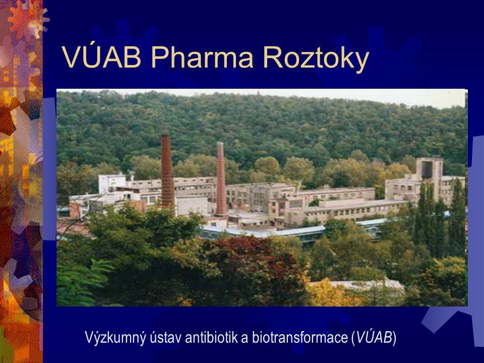 VÚAB Pharma Roztoky Výzkumný ústav antibiotik a biotransformace ( VÚAB )