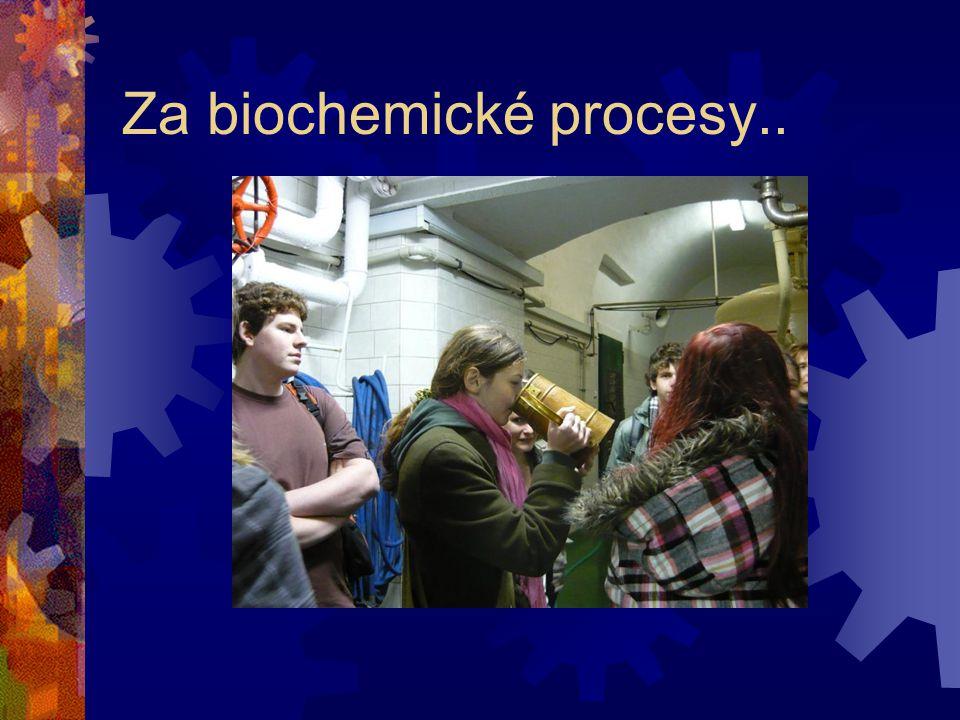 Za biochemické procesy..