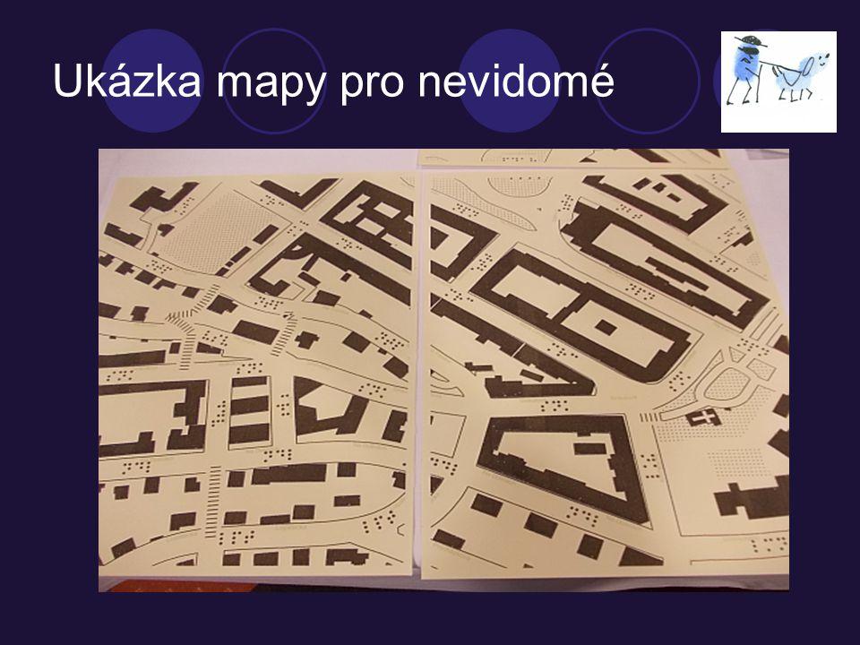 Ukázka mapy pro nevidomé