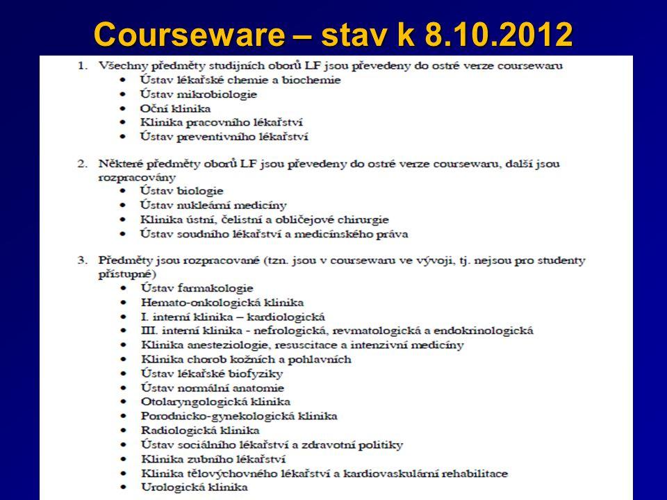 Courseware – stav k 8.10.2012
