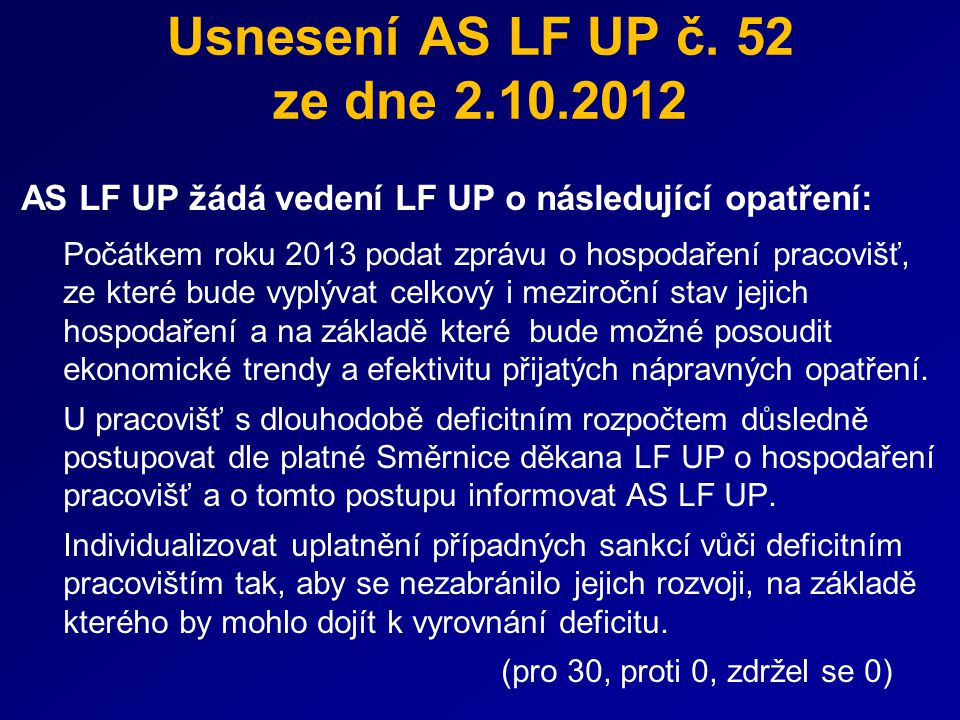 Usnesení AS LF UP č.