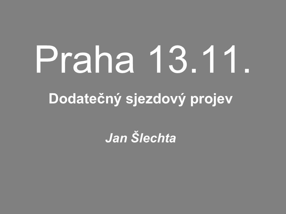 Praha 13.11. Dodatečný sjezdový projev Jan Šlechta