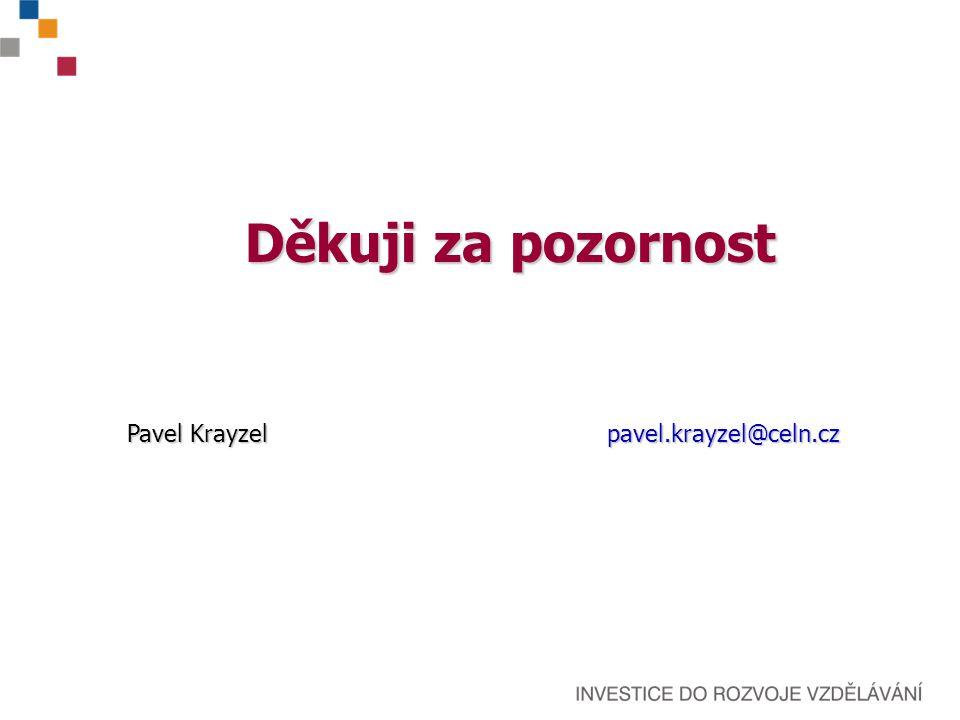 Děkuji za pozornost Pavel Krayzelpavel.krayzel@celn.cz